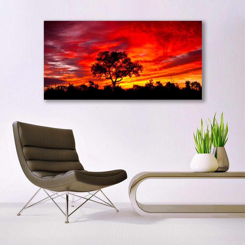 Print on Glass Wall art art art 140x70 Picture Image Tree Landscape f3b232