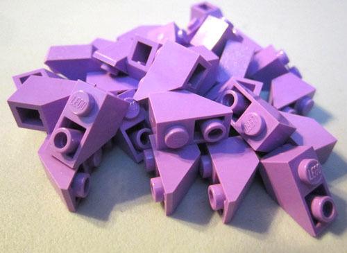 Lego 1x2 Inverted Light Purple Roof Tiles (30 pieces) #3665