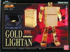 BANDAI SOC SOUL OF CHOGOKIN GOLD LIGHTAN GX-32 18K GOLD PLATE DIECAST FIGURE NEW