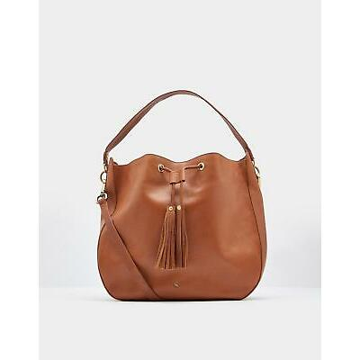 Joules Womens Beau Leather Shoulder Bag in CHESTNUT in One Size