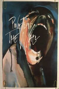 Image Is Loading Pink Floyd The Wall Vintage Poster Screaming Heads