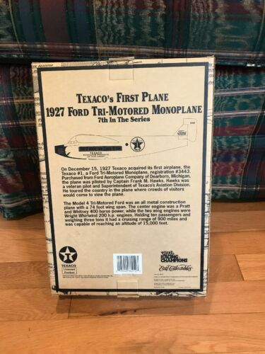 Ertl Wings Of Texaco 1927 Ford Tri-Motored Monoplane 7th In The Series