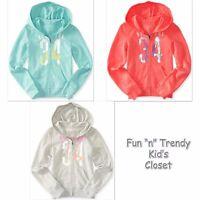 Ps Aeropostale Kids Girls Size 6 7 York 34 Zip-front Hoodie Sweatshirt