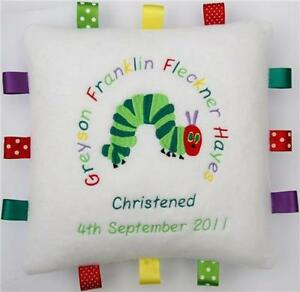 The Very Hungry Caterpillar Cuddly Cushion PERSONALISED  Unique Baby/Child Gift!