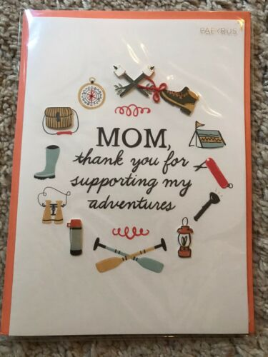 """NIP PAPYRUS HAPPY MOTHERS DAY CARD """"Mom"""" 6.95 New Adventures Embellished"""
