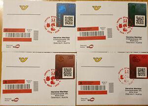 "SELTEN !!! Crypto Stamp 2.0 Komplettes Set ECHT gelaufener ""Ersttagsbriefe"""
