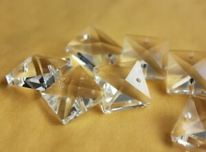 50PCS-CLEAR-14MM-GLASS-SQUARE-BEADS-CRYSTAL-PRISM-CHANDELIER-CHAIN-PART-0025