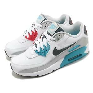 Details about Nike Air Max 90 LTR GS White Grey Chlorine Blue Red Kid Women Casual CD6864-108