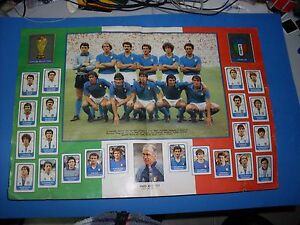 ALBUM-FIGURINE-CALCIATORI-PANINI-1982-83-1983-PAGINA-CENTRALE-ITALIA-COMPLETA