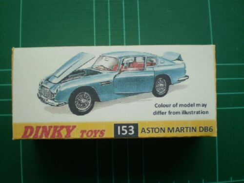 Toys Games Dinky Toy Repro Box Only For No 153 Aston Martin Db6 Com