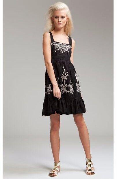 Alice by Temperley Nero MYRA Mini Mini Mini Dress Dimensione 14  6 39b631