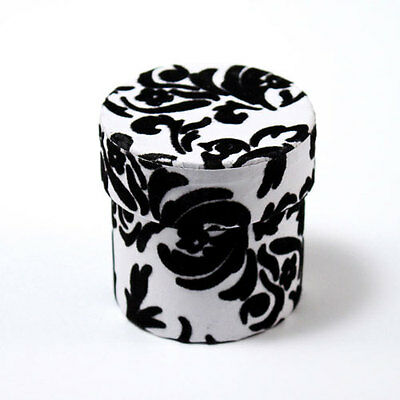 6pk Love Bird Damask Black and White Bridal Shower Wedding Favor Boxes