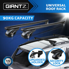 Giantz Universal Car Top Roof Rack Rail Cross Bars Graphite Alloy Aero 1200MM
