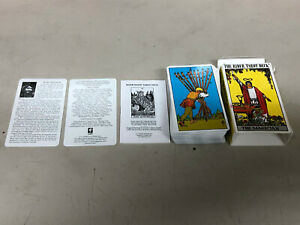 COMPLETE-DECK-OF-80-034-RIDER-WAITE-034-TAROT-CARDS-IN-BOX-WITH-INSTRUCTIONS