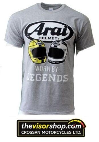 Arai GILDAN Heavy Cotton T-SHIRT GREY Joey /& Robert Dunlop Legends 4XL  XXXXL