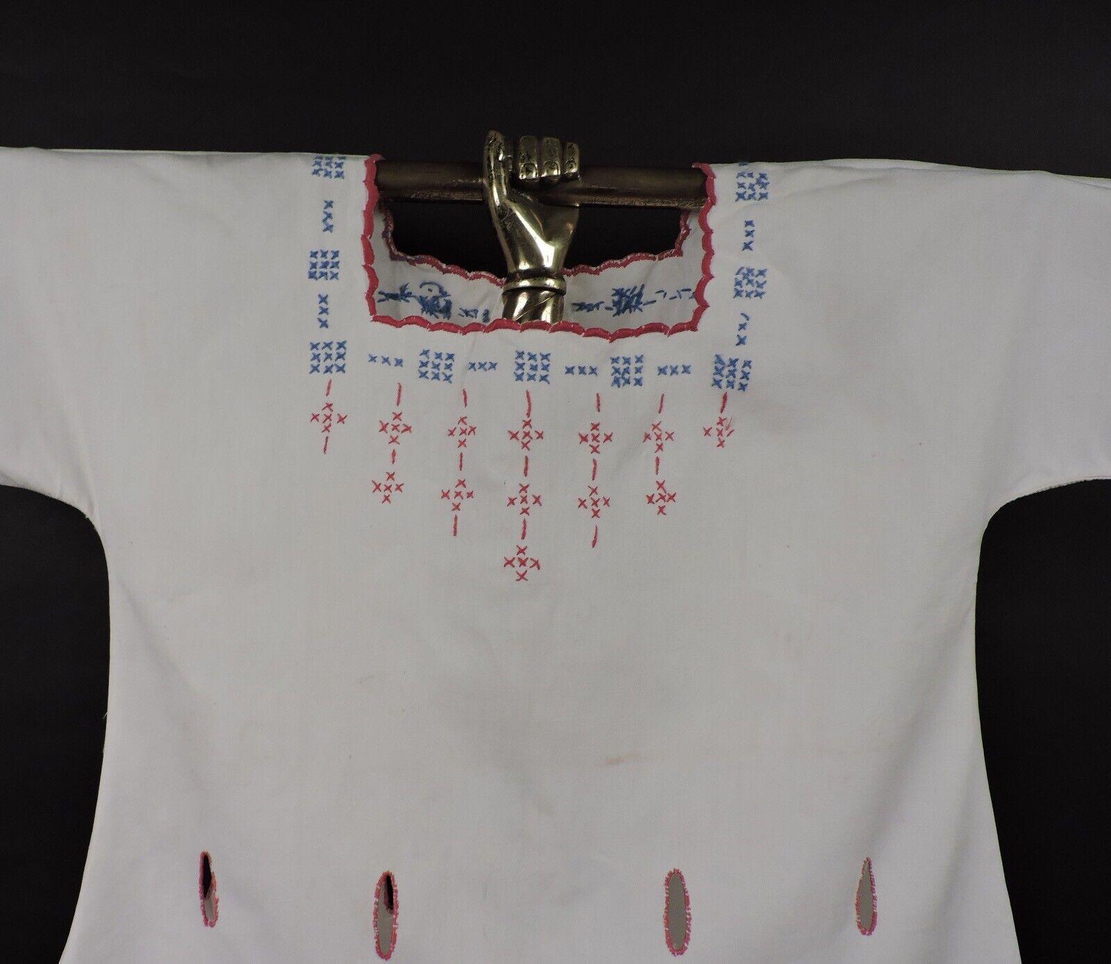 ANTIQUE EDWARDIAN HAND EMBROIDERED CHILD'S DRESS … - image 2