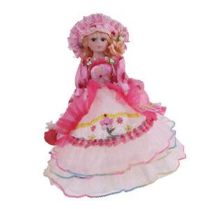 Vintage-Elegant-Victorian-Porcelain-Doll-Splicing-Doll-18inch-Pink-Dress