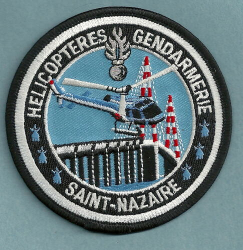 SAINT NAZAIRE FRANCE POLICE GENDARMERIE HELICOPTER AIR SUPPORT UNIT PATCH