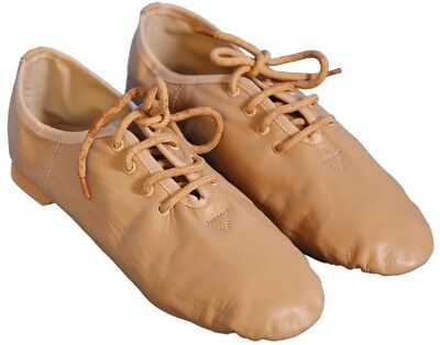 Zapatos de danza Jazz Cuero Tostado para niñas/mujeres