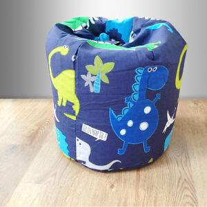 Children S Bean Bag Dinosaurs Blue Boys Kids Bedroom