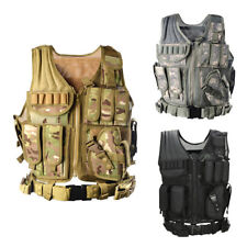 Adjustable Tactical Military Airsoft Molle Combat Army Plate Carrier Vest Unise