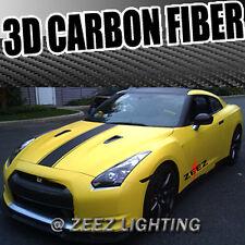 "50"" 3D Texture Black Carbon Fiber Sticker Vinyl Decal Film Wrapping Sheet C07"