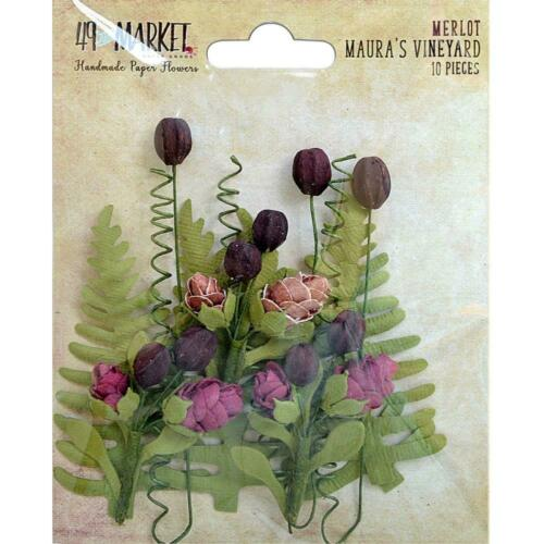 Card Making//Craft 49 And Market /'MAURA/'S VINEYARD/' 10pc Flowers Choose from 3