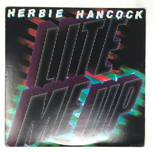 Herbie-Hancock-Lite-Me-Up-LP-Vinyl-Record-Original-Pressing-1982-Jazz-Funk