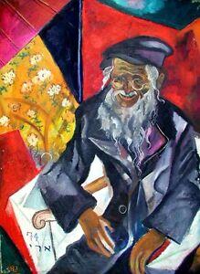 Jewish Cubist Artist Painting