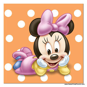 Image Is Loading Minnie Mouse Baby NAPKINS Cake 1st First Birthday