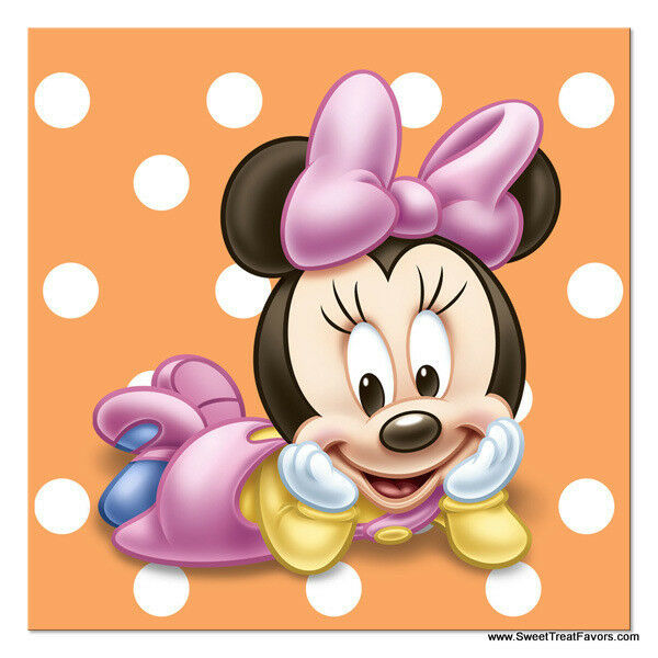 Minnie Mouse Baby NAPKINS Cake 1st First Birthday Decoration Party Supplies Girl