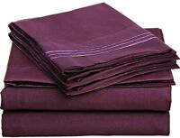 EGYPTIAN COMFORT DELUXE 1500 TC BED SHEET SET FULL QUEEN KING PURPLE COLOR