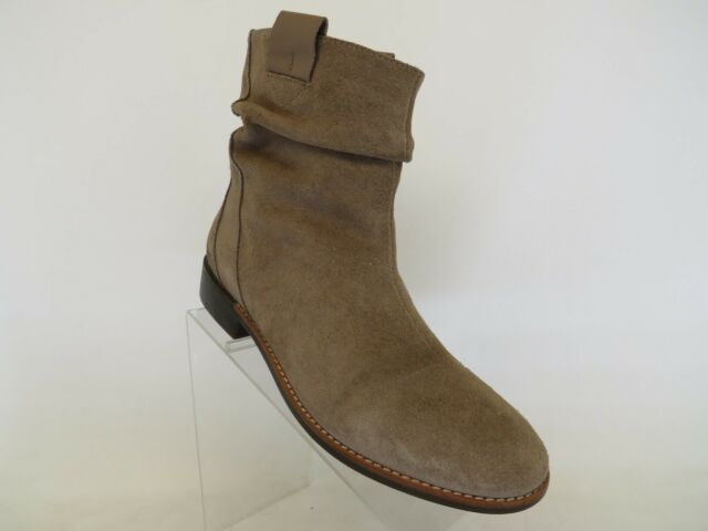 TSUBO Brown Suede Slouch Ankle Fashion Boots Bootie Size 10 M