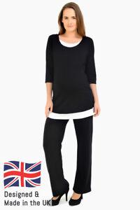 9ac4b3272e574 Image is loading Casual-Maternity-Bootleg-Trousers-Short-Petite-Regular-Long -