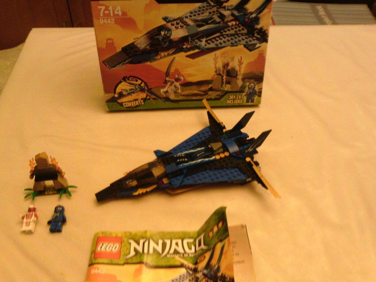Lego Ninjago 9442 - Jay's Storm Fighter - 100% Complete, Box, Instructions