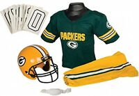 Green Bay Packers Youth Jersey Small Uniform Set Nfl Kid Football Helmet Costume on Sale