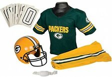 Green Bay Packers Youth Jersey Small Uniform Set NFL Kid Football Helmet Costume
