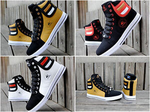 NEW 2017 Men's Shoes Fashion Leather Shoe Casual High Top Sneakers Shoes /**hot