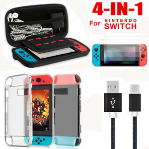 For-Nintendo-Switch-Accessories-Hard-Case-Bag-Shell-Cover-Charge-Cable-Protector