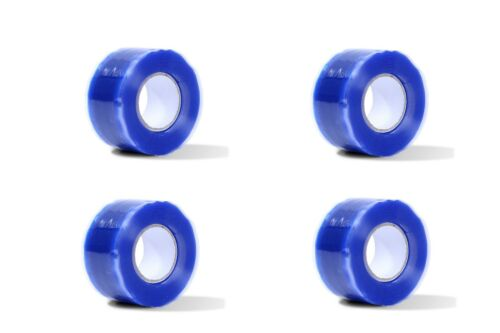 4x Silicone Repair Tape Emergency Rescue Cable Hose Tape Self-Fusing Blue Tape