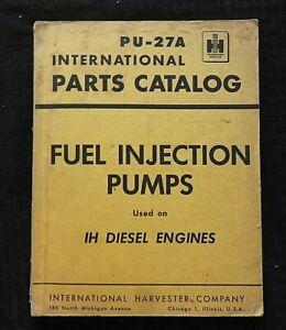 1953 INTERNATIONAL HARVESTER FUEL INJECTION PUMPS PARTS CATALOG AMERICAN BOSCH