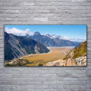 Leinwandbild Kunst-Druck 125x50 Bilder Landschaften Berg See Gebirge