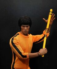 Custom 1/6 Scale Bruce Lee Head Sculpt For Hot Toys Figure Body