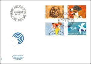 FDC-Suisse-Timbres-poste-speciaux-22-8-1983