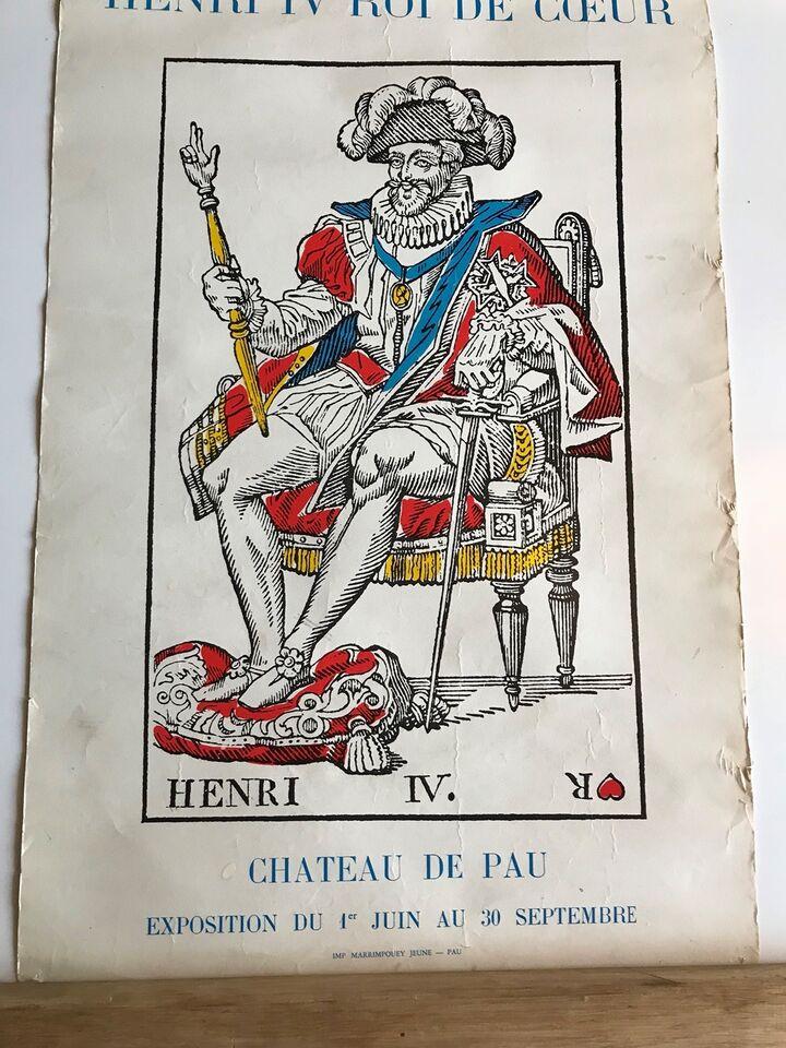 Plakat, Anden, motiv: Konge