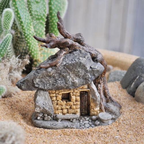 Miniature Dollhouse FAIRY GARDEN ~ Troll Rock House With Tree ~ NEW