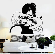 Vinyl Wall Decal Gamer Girl Video Game Play Room Gaming Stickers (ig4571)