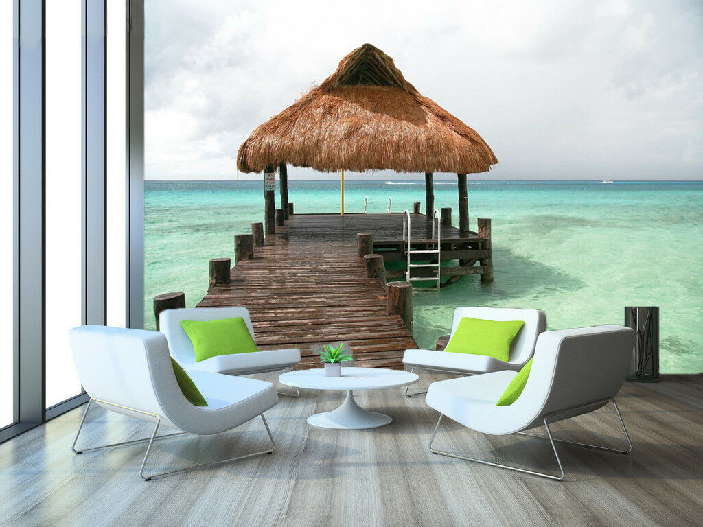 3D Hawaiian Beach 7 Wall Paper Murals Wall Print Wall Wallpaper Mural AU Summer