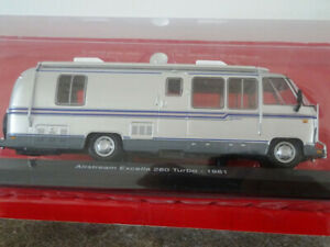 HACHETTE PASSION CAMPING CARS - AIRSTREAM EXCELLA 280 TURBO - USA 1981 au 1/43°