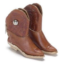 Real Leather Botas Vaqueras, de Muñecas Muñecas miniatura 1.12 Th Escala. el Viejo Oeste